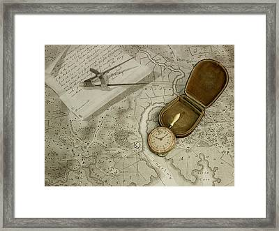 A Map Meter A Dial Map Measurer Framed Print by British Library