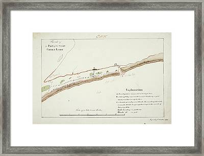 A Map Of The Chilka Lake Framed Print by British Library
