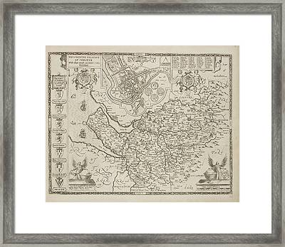 A Map Of The County Of Cheshire Framed Print by British Library