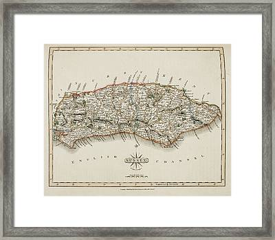 A Map Of The County Of Sussex Framed Print by British Library