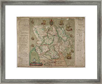 A Map Of Ulster Framed Print