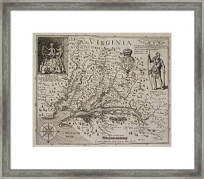 A Map Of Virginia Framed Print by British Library