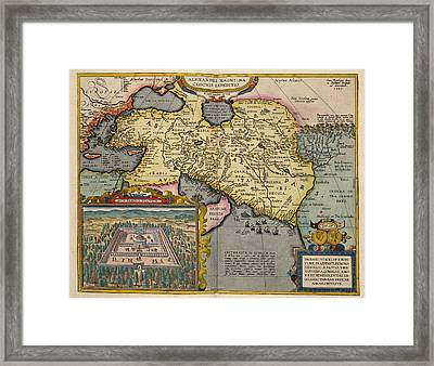 A Map Ofasia Framed Print by British Library