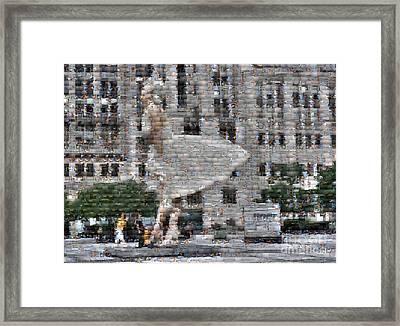 A Marilyn Mosaic Framed Print by David Bearden