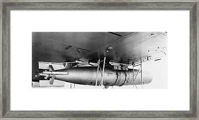 A Mark 13 Torpedo Installed Ona Pby-3 Framed Print by Stocktrek Images