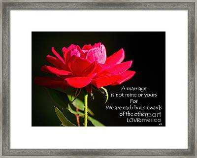 A Marriage Framed Print
