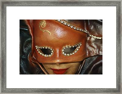 A Mask Framed Print by Tommytechno Sweden
