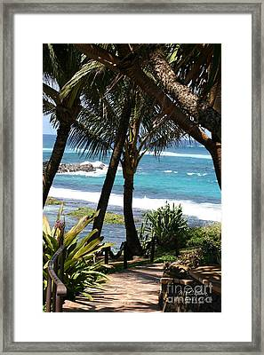 Framed Print featuring the photograph A Maui Afternoon by Mary Lou Chmura