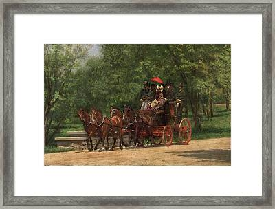 A May Morning In The Park. The Fairman Rogers Four-in-hand  Framed Print