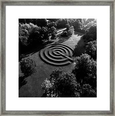 A Maze At The Chateau-sur-mer Framed Print by Ernst Beadle