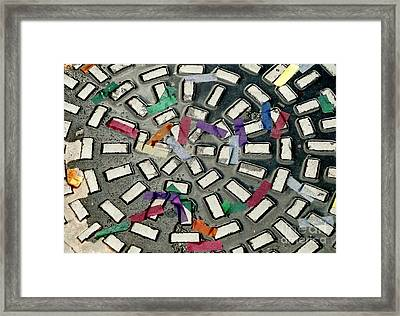 A Maze In Abstract Framed Print by Michael Hoard