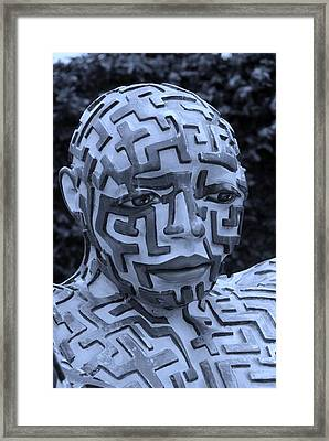 A Maze Ing Man 11 Cyan Framed Print by Rob Hans