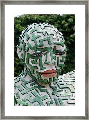 A Maze Ing Man 11 Framed Print by Rob Hans
