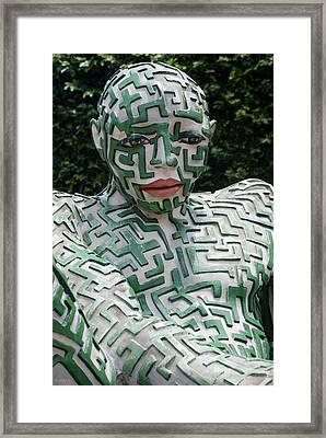 A Maze Ing Man 12 Framed Print by Rob Hans