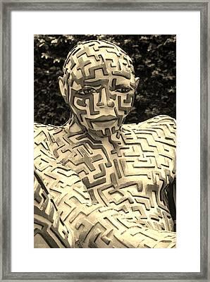 A Maze Ing Man 12 Sepia Framed Print by Rob Hans