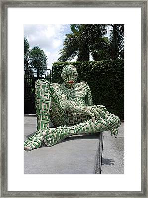A Maze Ing Man 13 Framed Print by Rob Hans
