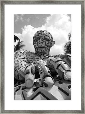 A Maze Ing Man 6 Black And White Framed Print by Rob Hans