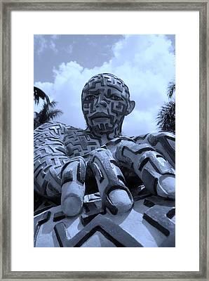 A Maze Ing Man 6 Cyan Framed Print by Rob Hans