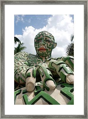 A Maze Ing Man 6 Framed Print by Rob Hans