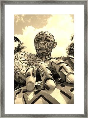A Maze Ing Man 6 Sepia Framed Print by Rob Hans