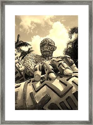 A Maze Ing Man 7 Sepia Framed Print by Rob Hans