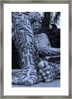 A Maze Ing Man 9 Cyan Framed Print by Rob Hans
