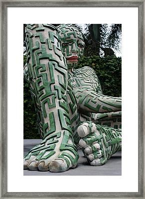 A Maze Ing Man 9  Framed Print by Rob Hans