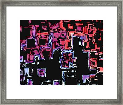 A Maze Zing - 01c07a Framed Print by Variance Collections
