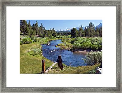 A Meandering Stream Flows Through Hope Framed Print