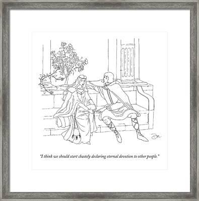 A Medieval Prince Says To His Princess Framed Print