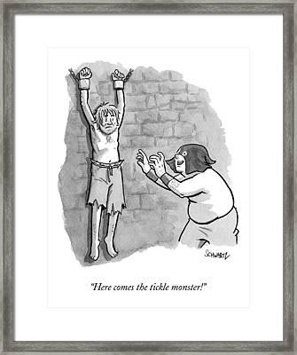 A Medieval Torturer Approaches A Hanging Framed Print