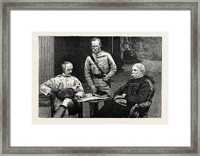 A Meeting Of The Commanders-in-chief Of The Army In India Framed Print by Indian School
