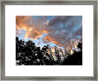 A Memorable Sky Framed Print