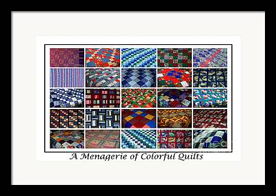 Menagerie Of Colorful Quilts Framed Prints