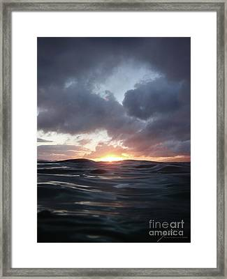 A Mermaid's Point Of View Framed Print