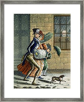 A Merry Christmas And Happy New Year Framed Print by W Summers