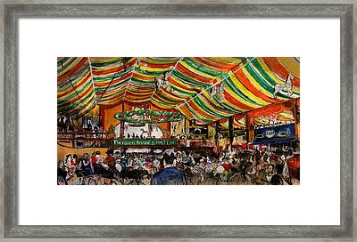 A Messy Afternoon In The Hippodrom Framed Print by Julie Galante