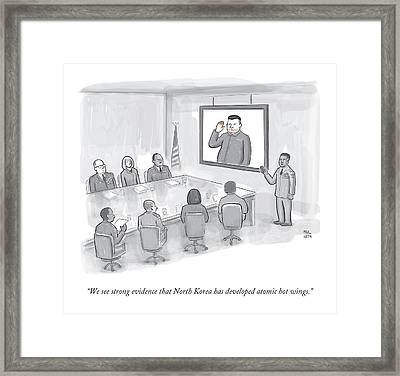 A Military Briefing Framed Print by Paul Noth