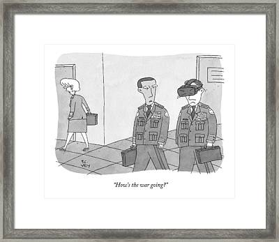 A Military Defense Officer Asks A Second One Framed Print