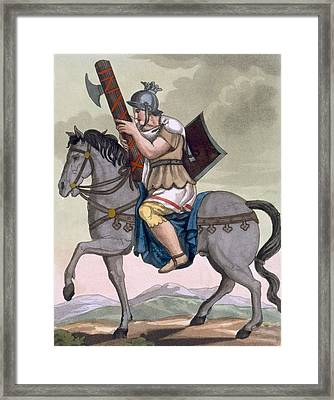 A Military Lictor Of The Cavalry Framed Print by Jacques Grasset de Saint-Sauveur