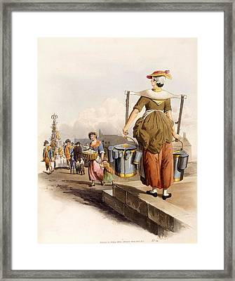 A Milkmaid, From The Costumes Of Great Framed Print