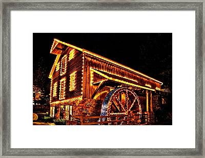A Mill In Lights Framed Print