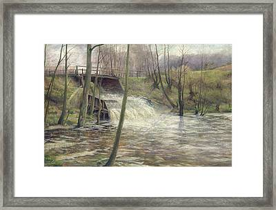A Mill Stream Framed Print by Karl Oderich