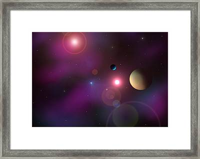 A Million Light Years Framed Print by Ricky Haug