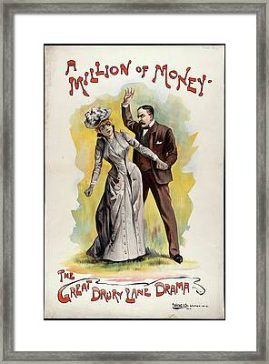 A Million Of Money Framed Print by British Library