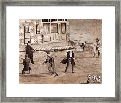 A Minor Misunderstanding Tombstone Az Framed Print by Stuart B Yaeger