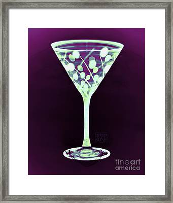 A Mint Martini On Plum Framed Print