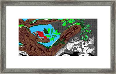 A Minute To Myself Framed Print by Sherry  Hatcher