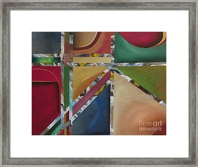 Framed Print featuring the painting A Mystery Behind by Nereida Rodriguez