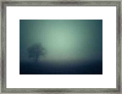 A Misty Alien Invasion Framed Print by Chris Fletcher